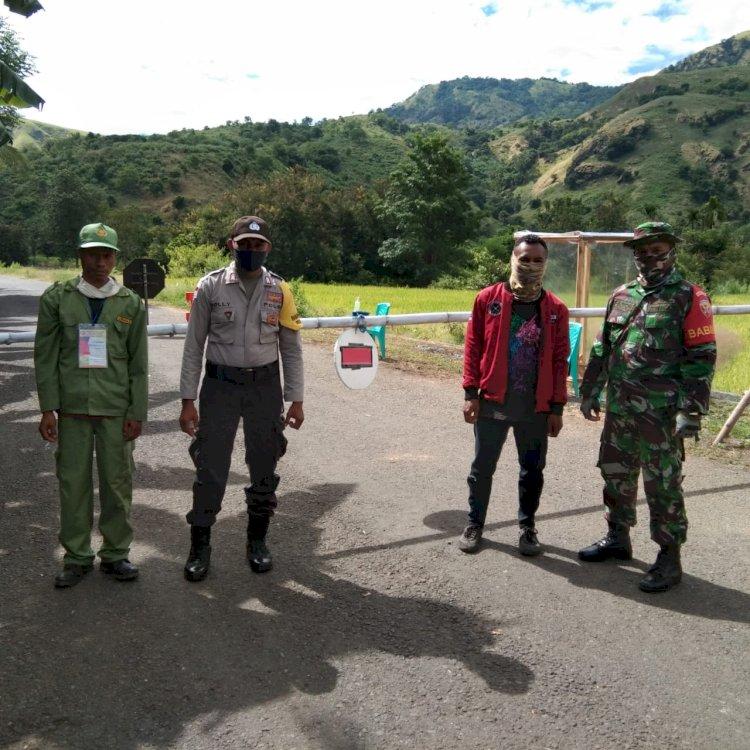 Cegah Penyebaran Corona, Jajaran Polsek Maurole Melakukan Pemantauan Keluar Masuk Warga Di Daerah Perbatasan
