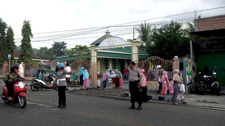 Sebanyak 106 Personil Polres Ende DiTerjunkan Untuk Melakukan Pengamanan Sholat Idul Adha 1441 H