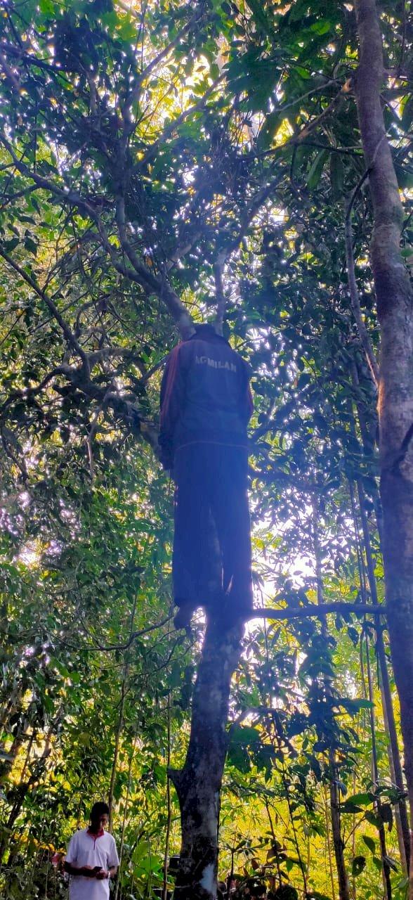 Polres Ende Olah TKP Penemuan Mayat Gantung Diri