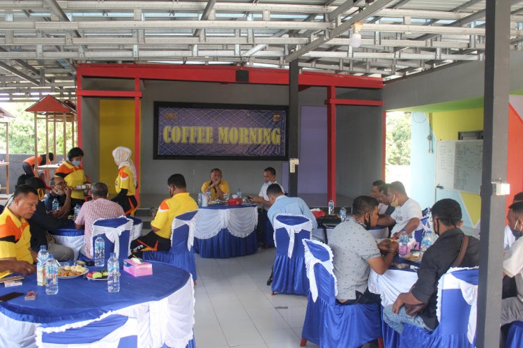 Jalin Silaturahmi, Kapolres Ende Gelar Coffee Morning Bersama Awak Media