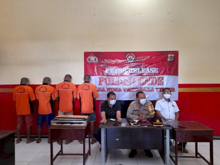 Polres Ende Gelar Press Release Kasus Perjudian Dan Kasus Narkoba