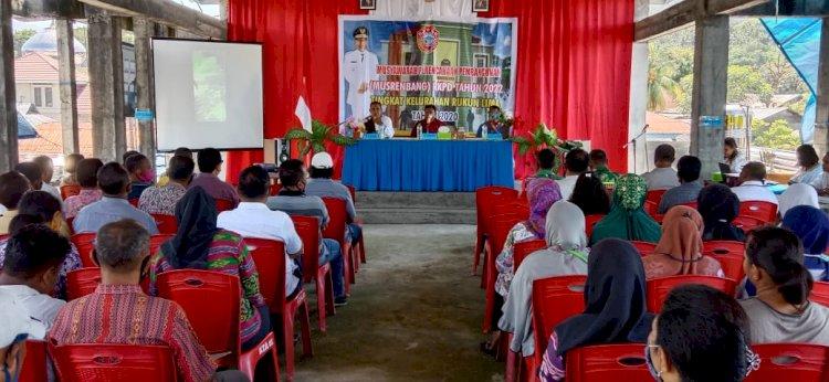 Bhabinkamtibmas Rukun Lima Menghadiri Musrenbang RKPD Tahun 2022 Tingkat Kelurahan