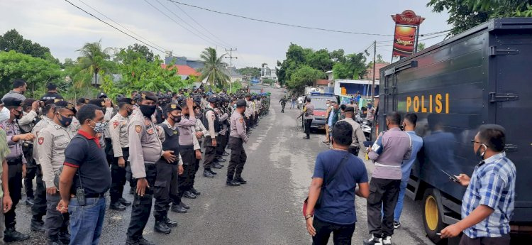Kabag Ops Polres Ende Pimpin Pam Eksekusi Tanah Dan Bangunan