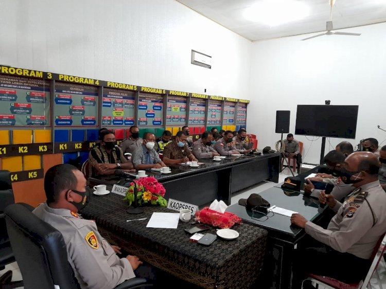 Kapolres Ende Pimpin Rapat Pembentukan Kampung Tangguh Ketahanan Pangan