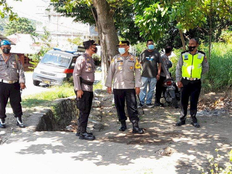 KabagOps Polres Ende Pimpin Pengamanan Eksekusi Lahan Di Kelurahan Rewarangga