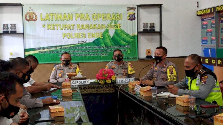 Kapolres Ende Pimpin Lat Pra Ops  Ketupat Ranakah 2021
