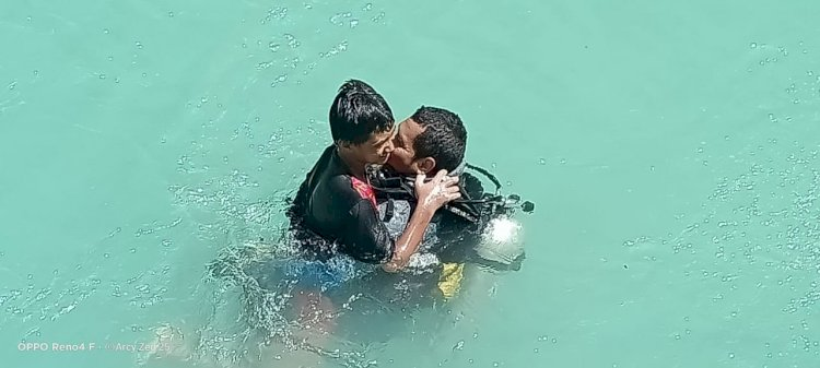 Aksi Heroik Anggota Ditpolair Polda NTT Selamatkan Bocah Tenggelam di Sungai Beleno Kupang