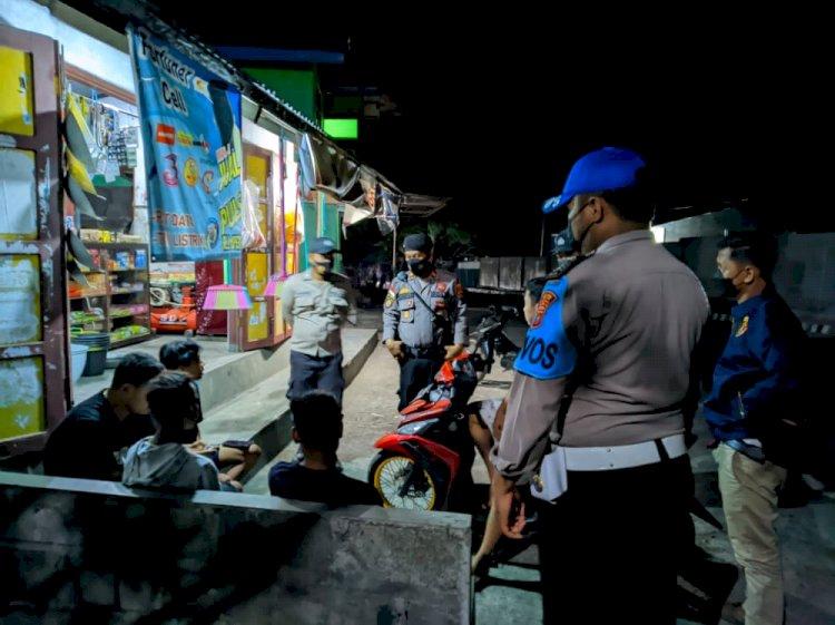 Cegah Aksi Premanisme Dan Pungli, Tim Gabungan Polres Ende Rutin Laksanakan Patroli Malam Hari