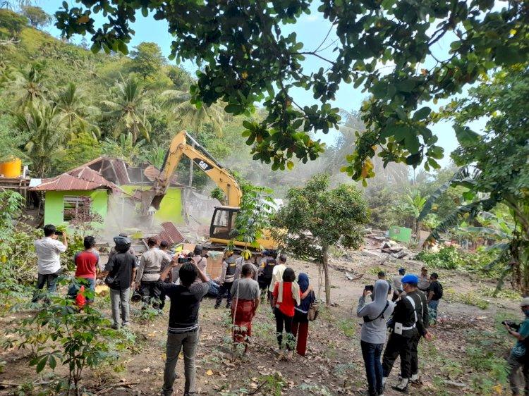Ratusan Personil Gabungan Amankan Konstatering Dan Eksekusi Atas Tanah Sangketa Di Kelurahan Tanjung