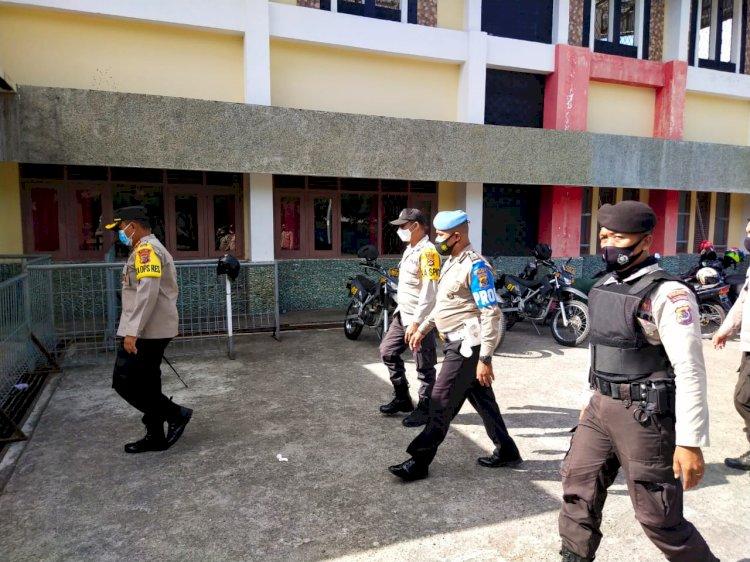 Kapolres Ende Cek Lokasi Karantina Terpusat Pasien Covid-19 Di Stadion Marilonga
