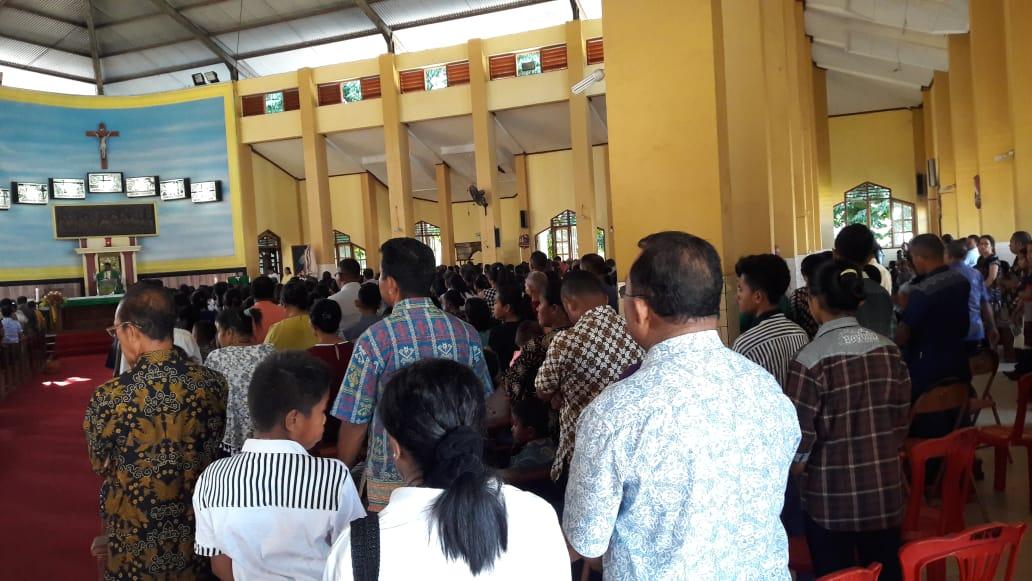 Kegiatan Ibadah Misa Ekaristi, Polres Ende Lakukan Pengamanan