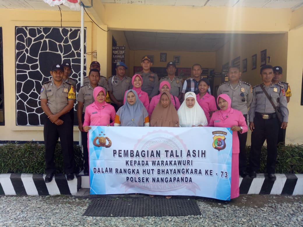 Menyambut Hut Bhayangkara Ke 73, Polsek Nangapanda Melaksanakan Tali Asih Kepada Warakawuri di Wilayah Hukum Polsek Nangapanda