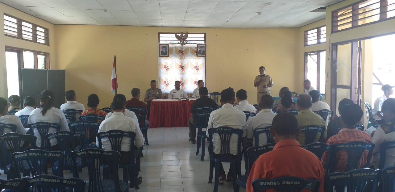 Kanit Binmas Polsek Maurole Menghadiri Rapat Kordinasi Tingkat Kecamatan