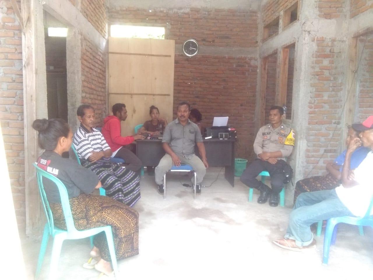 Bhabinkamtibmas Desa Ndetundora I Selesaikan Kasus Penganiayaan