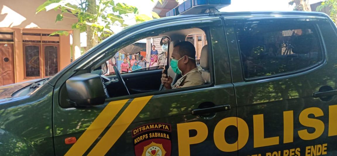 Sat Binmas Polres Ende Beri Himbauan Kamtibmas Cegah Virus Corona